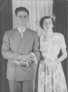 Lowe - Norma & Bill on their wedding day